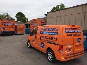 Water Damage Easton Restoration Van
