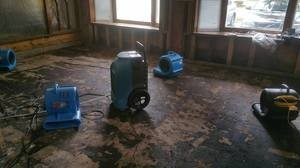 Water Damage Restoration In Progress