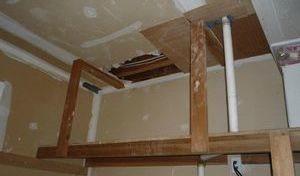 Water Damage Restoration Closet Repair
