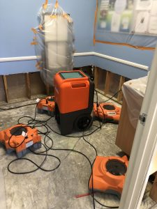Mold Restoration And Drying Services In A Restored Basement